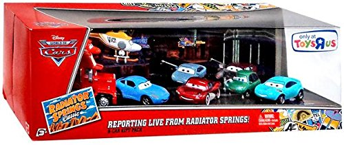 Disney Pixar Cars Radiator Springs Classic Exclusive 1 55 Die Cast 9 Pack Reporting Live From Radiator Springs