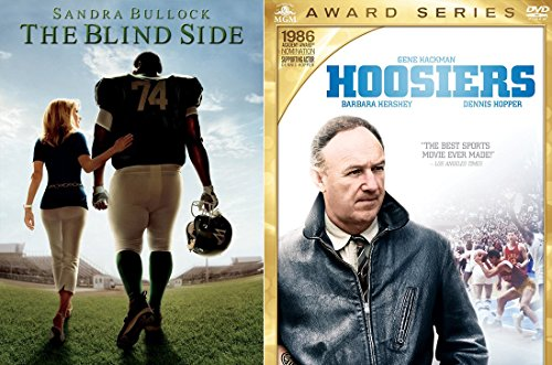 (True Story The Blind Side DVD Football Movie + Hoosiers Special Edition 2 disk Basketball Double Feature Set)