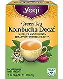 Yogi Tea, Kombucha Green Tea, Decaf, 16 Count, Packaging May Vary