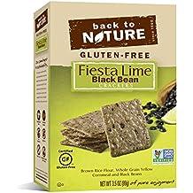 Back to Nature Gluten Free, Non GMO, Fiesta Lime Black Bean Crackers, 3.5 Ounce