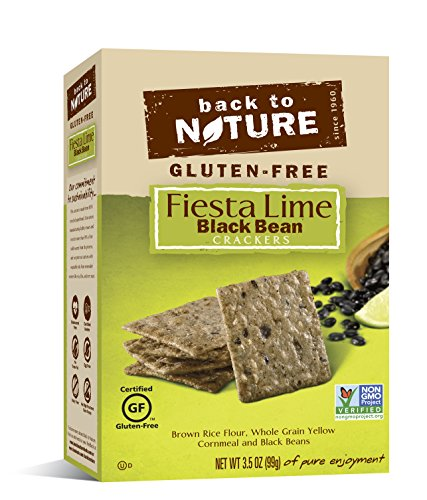 Back to Nature Gluten Free, Non-GMO Black Bean & Fiesta Lime Rice Thin Crackers, 3.5 Ounce