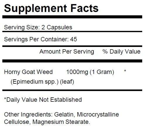 3 Bottles Horny Goat Weed 1000mg Per Serving 270 Total Capsules KRK Supplements