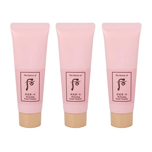 The History of Whoo Gongjinhyang Soo Yeon Hydrating Foam Cleanser 40ml x 3pcs