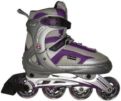 Schwinn Breeze Inline Skates – Size 6 6.5 7 7.5 – Purple Grey