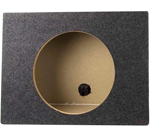 (Q Power 10 Inch Single Slim Truck Shallow Sealed Subwoofer Box Sub Enclosure)