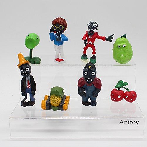 Amazon.com: Plants vs Zombies PVC Action Figures 2.5-6.5cm PVZ 40pcs/set Collection Figures Toys Gifts plant + zombies KT3968: Toys & Games