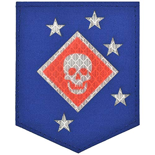 Laser Cut Reflective Marine Raider Battalion Thick Jaw MARSOC - 3x3.5 Shield Patch