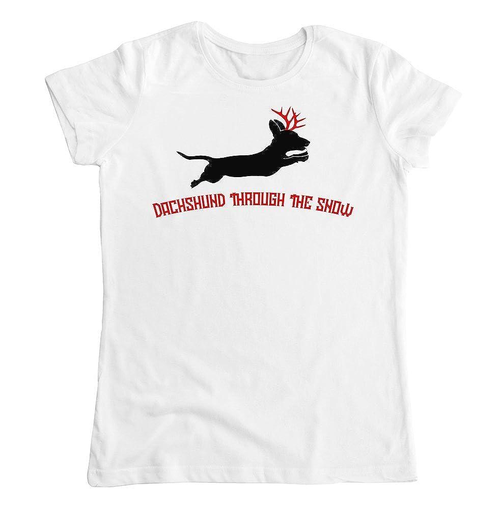 graphke Dachshund Through The Snow Womens T-Shirt