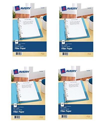 Amazon.com : Avery Mini Filler Paper, 5.5 x 8.5 Inches, 100 Sheets ...