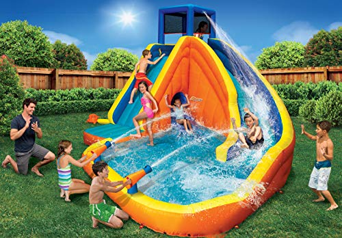 BANZAI 90494 Sidewinder Falls Inflatable Water Slide with Tunnel Ramp Slide by BANZAI (Image #1)