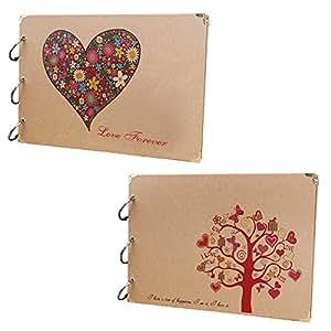 10 Inch 30 Black Sheets Craft Paper Self-adhesive Handmade Scrapbook Wedding Anniversary Gift DIY Photo Album