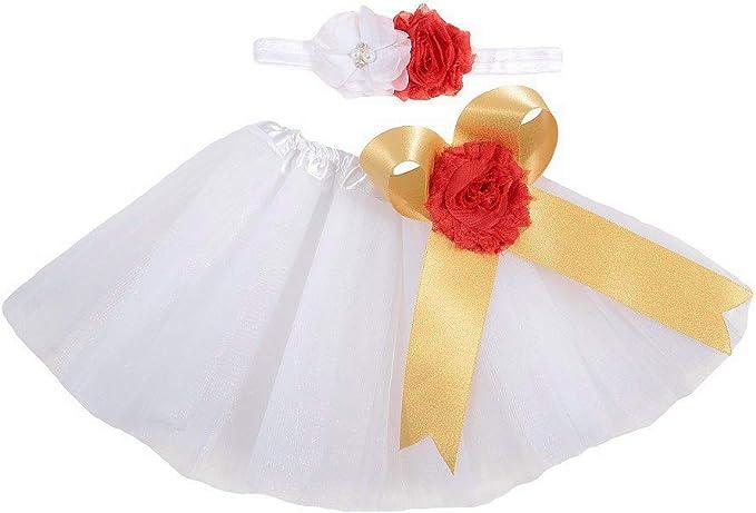 Falda para Bebé Recién Nacido Conjuntos Dos Piezas con 1 Diadema + ...