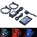 ATTAV RGB Magnetic LED Light Strip Full Kit for PC Computer Case, Fixed by Powerful Magnet, Multi Function Remote...