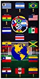 Mexico Soccer Velour Beach Towel Design: Soccer Towel Celebration-24 TOWELS