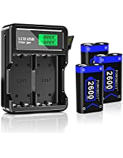 $27 » POWOBEST High-Speed LCD Battery Charger with 3 x 2600mAh Rechargeable Battery for Xbox Series X/S Xbox One/Xbox One S/Xbox One X/Xbox Series x Controller/Xbox one Controller/Accessories Kit