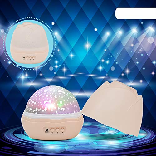 Best Quality - LED Night Lights - Leedome Novelty Night Light Children Baby Sleep Romantic Light Projector Lamp Rotating Flashing Starry Star Moon Sky Lampada Led - by Squeeque - ()