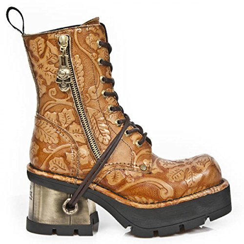 Nuovi Stivali Di Roccia M.1046-c2 Gotiche Damen Hardrock Punk Stiefel Oro