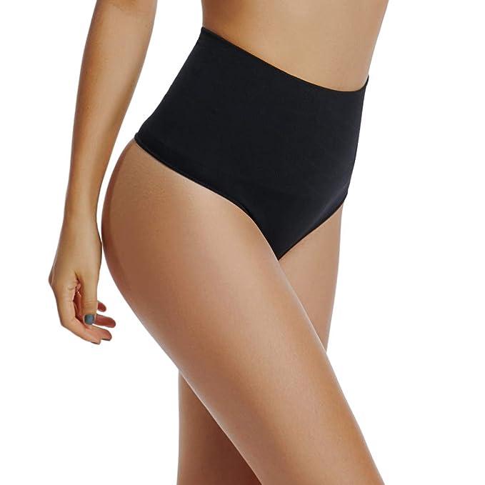 Womens High Waist Thong Shapewear Tummy Control Panty Waist Cincher Belly Slimmer Thong