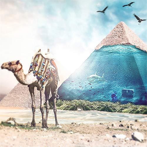 Diy 5D Diamond Painting Kit, Full Diamond Desert Camel?Embroidery Rhinestone Cross Stitch Arts Craft Supply For Home Wall Decor -