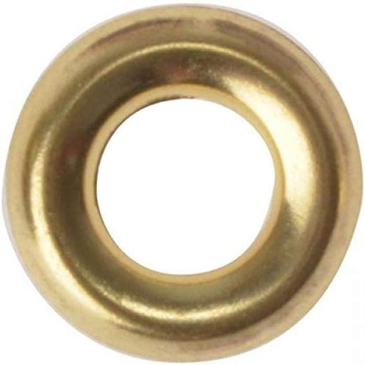 FORGEFIX FORSCW10BM1//2 Screw Cup Washers Solid Brass Polished No.10 Bag 100