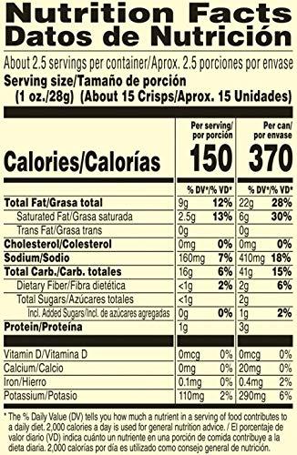 Pringles Potato Crisps Chips, Sour Cream & Onion, 2.5oz (12 Count)