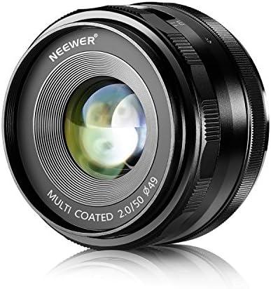 Neewer Nahlinse für Sony E-Mount Digitalkameras wie NEX3, 3N, 5, 5T, 5R, 6, 7, A5000, A5100, A6000, A6100 und A6300 (NW-E-50-2.0)