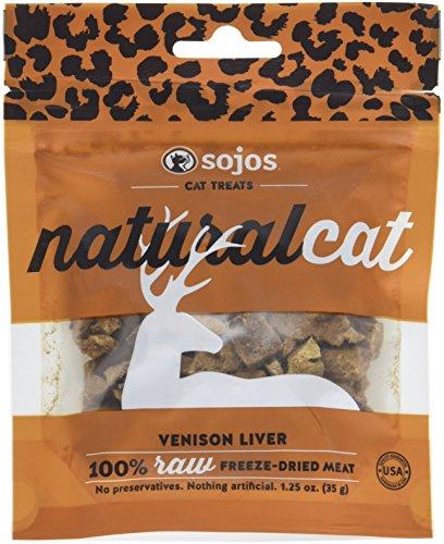 Sojos 557115 Natural Cat Venison Liver Treat, 1.25 Oz