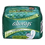 Always Ultra Thin Long Super Pads, 20-Count