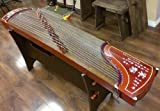 Dunhuang Yun Burma Padauk Guzheng with Chinese Caligraphy