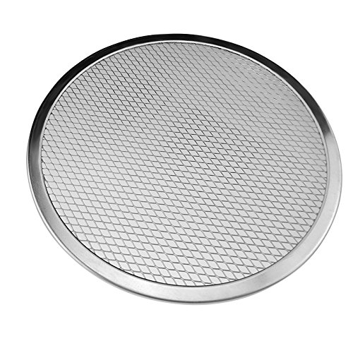 Round Pizza Screens - Round Aluminium Pizza Screen Non-stick Reusable Mesh Baking Crisping Tray Bakeware Plate Pan Net
