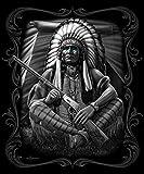 "DGA Native American ""Warrior"" Queen Size Blanket, 79""L X 95""B"