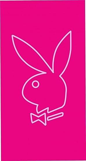 Toalla de playa Conejo Playboy 90 x 170 cm Toalla rosa/negro toalla playa: Amazon.es: Hogar