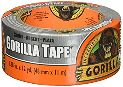 """Gorilla Tape, Silver Duct Tape, 1.88"""" x 12 yd, Silver, (Pack of 1)"""