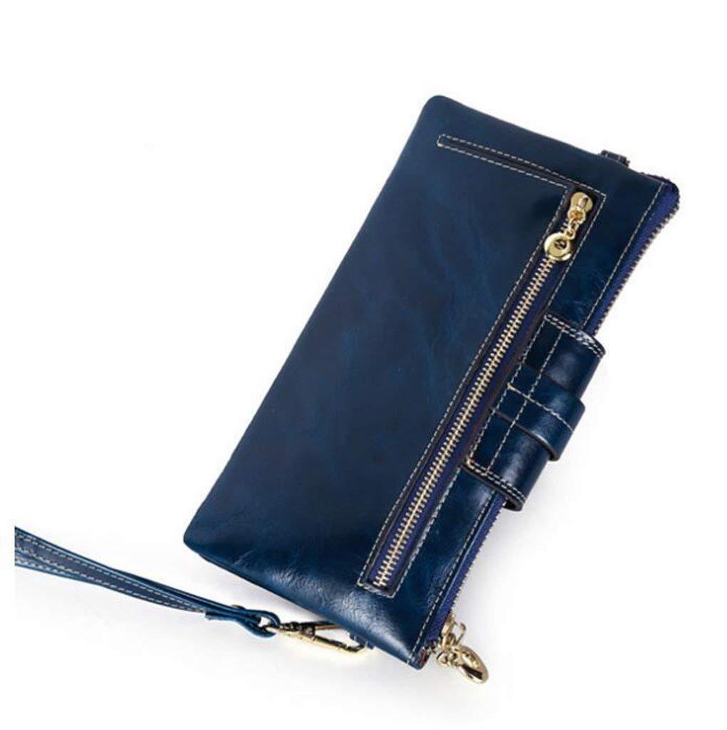 3 Evening Clutch Bag Women's Leather Wallets RFID Blocking Vintage Design Large Capacity Purse Handbag (color    3)