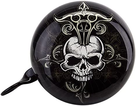 SUNLITE DING DONG SKULL BLACK BICYCLE BELL