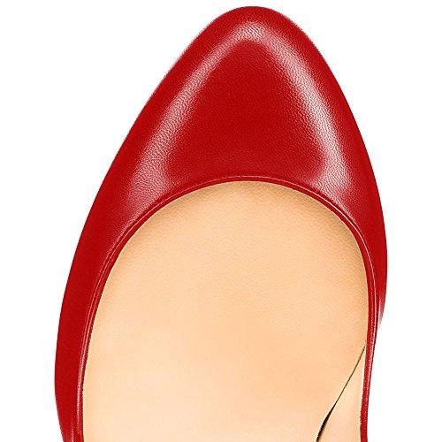 Kengät Piikkikorot Korkokenkiä Työpaikalla Naisten B Pukeutua punainen Luistaa Varvas Ybeauty Pu Pyöreä Sandaalit Pumput 8pY5vBx