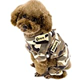 Alfie Pet by Petoga Couture - Faelyn Military Combat Jumper - Color: Camo, Size: Medium