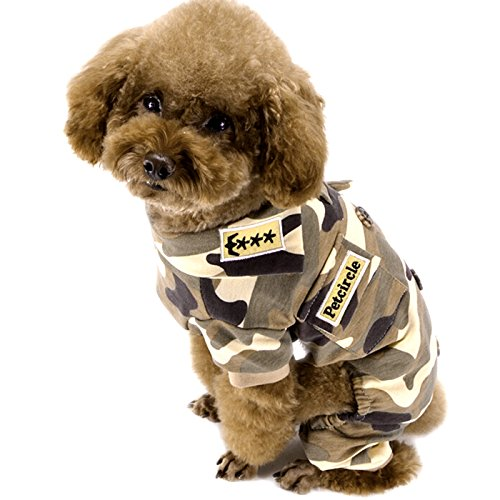 Alfie Pet by Petoga Couture - Faelyn Military Combat Jumper - Color : Camo, Size : Small