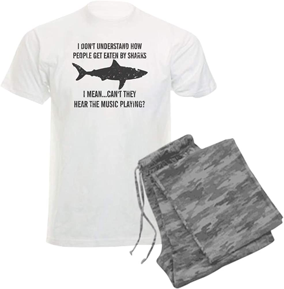 CafePress Why Do People Get Eaten by Sharks Hear Pajama Set