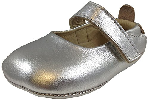 Old Soles Kid's Gabrielle Mary Jane, Silver Leather, 18 M EU/2 M US Infant