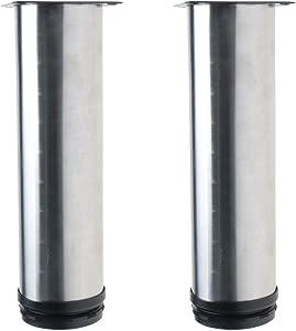YeVhear 7 Inch Stainless Steel Furniture Legs Sofa Cabinet Worktop Shelves Replacement Feet Adjustable Height
