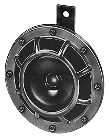 HELLA 003399071 Supertone 24V High Tone Horn with Black Protective Grill, Single Horn