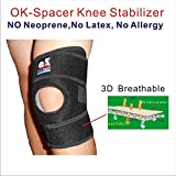 IRUFA KN-OS-18,Medical Grade,3D Breathable 4 Way Elastic Spacer Fabric 8.5 Inch Width Knee Wrap For Relieves Pain, Arthritis, ACL, Meniscus Tear, Sports, Running, Basketball, Athletic One PCS