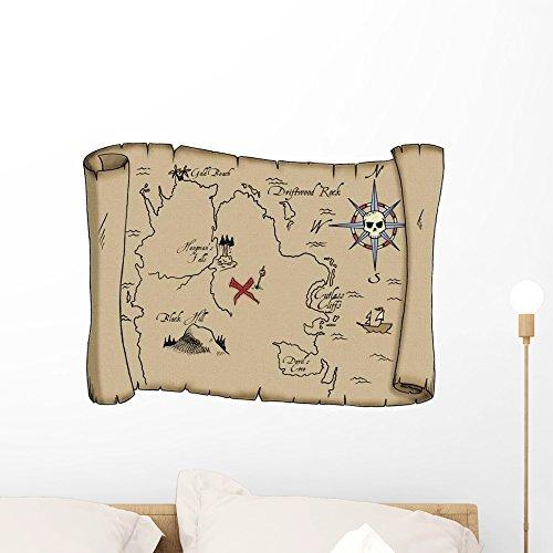 Wallmonkeys Labeled Pirate Treasure Map