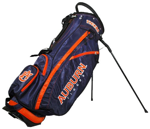 Team Golf NCAA Auburn University Tigers Fairway Golf Stand Bag, Lightweight, 14-way Top, Spring Action Stand, Insulated Cooler Pocket, Padded Strap, Umbrella Holder & Removable Rain Hood