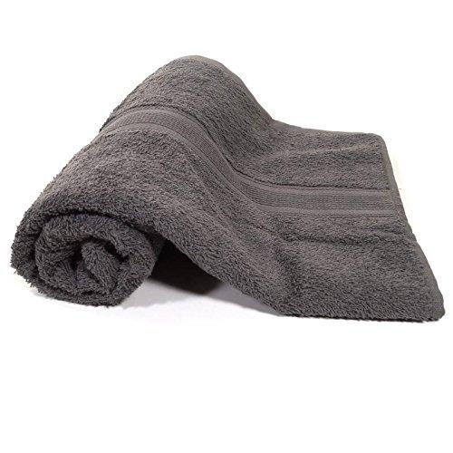 Duschtuch Grau Frottee Baumwolle 500g/m2 Handtuch 70 x 140 cm