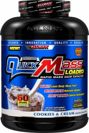 ALLMAX Nutrition QuickMass Weight Gainer Rapid Mass Gain Catalyst Cookies Cream 6 lbs 2 72 kg
