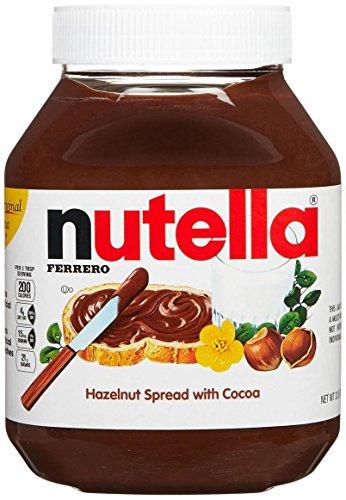 Nutella, Hazelnut Spread with Cocoa - 33.5 Ounce Jar (2.093 Lb, 950g) (Nutella Spoon)