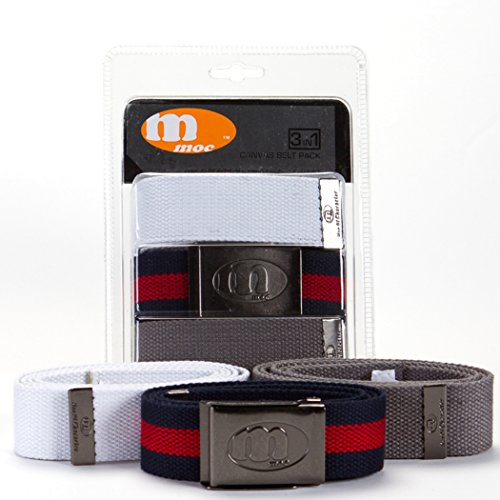 MOC Brands Canvas Belts 3-Pack (Combo # 1)