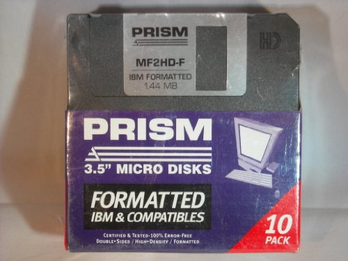 PRISM 3.5'' Inch Formatted Floppy Disks MF2HD by Prism